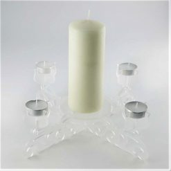 Acrylic Centrepiece Tealight Candle Holder with candle