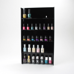 Black Acrylic Wall Mounted Nail Varnish Display Stand