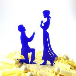 Proposal Design Engagement Cake Topper