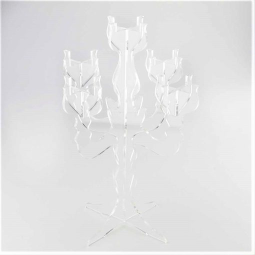 Small Clear Candelabra