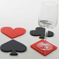 Las Vegas Style Playing Card Suit Coasters