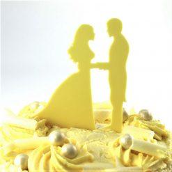 Vows Design Wedding Cake Topper