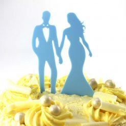 Walking Design Wedding Cake Topper