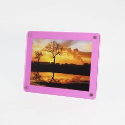 Pink Acrylic Freestanding Photo Frame