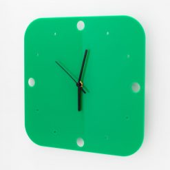 Small Square Acrylic Clock with Dots Face Detail