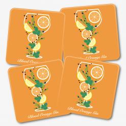 Blood Orange Gin Coasters
