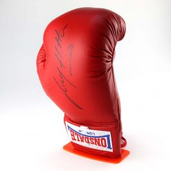 Red Boxing Glove Display Stand with glove