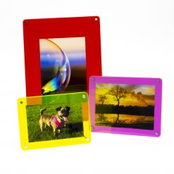 3 Freestanding Acrylic Photo Frames