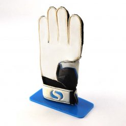 Goalkeeping glove stand blue with glove