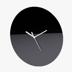 Large Round Plain Clock Black