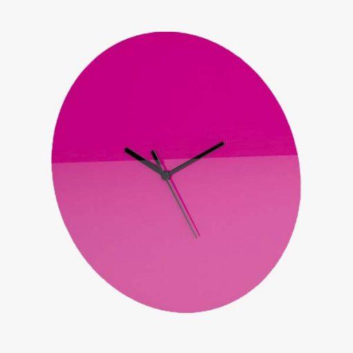 Large Round Plain Clock Pink