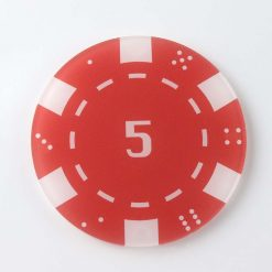 Printed Acrylic 5 Casino Chip Coaster