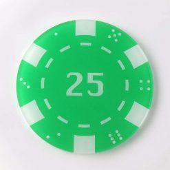 Printed Acrylic 25 Casino Chip Coaster