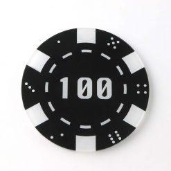100 Casino Chip Coaster