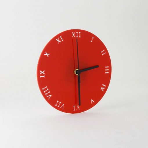 Small Round Clock with Roman Numerals Face Detail