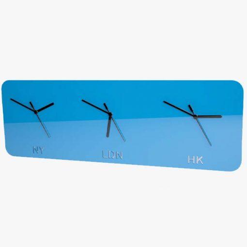 Timezone Clock Blue