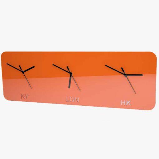 Timezone Clock Orange