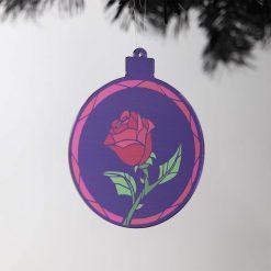 Beauty & The Beast Acrylic Christmas Bauble on Tree