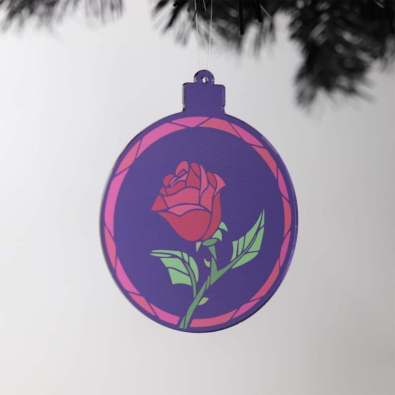 Beauty & The Beast Bauble on Tree
