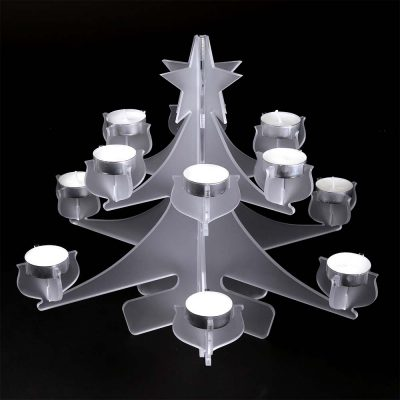 Christmas Tree Tealight Holder in Frosted Acrylic