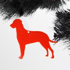 Acrylic Dalmatian Dog Christmas Tree Decorations