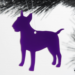 English Bull Terrier Christmas Tree Decorations