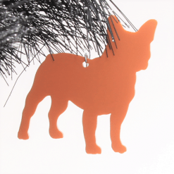 Acrylic French Bulldog Christmas Tree Decorations