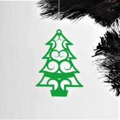 Acrylic Fret Cut Christmas Tree Shaped Decorations