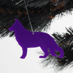 Acrylic German Shepherd Dog Christmas Tree Decorations