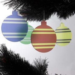 Harry Potter Themed Acrylic Christmas Baubles Set on Tree