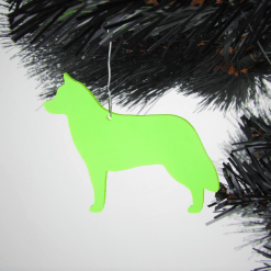 Acrylic Siberian Husky Dog Christmas Decorations