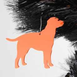 Acrylic Labrador Dog Christmas Tree Decorations