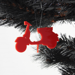 Acrylic Scooter Christmas Tree Decorations