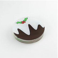 Christmas Pudding Coaster Set Stack