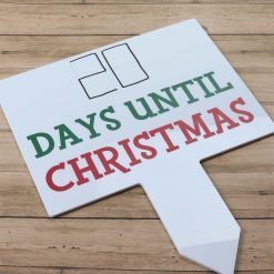 Countdown To Christmas Large Rectangle Sign
