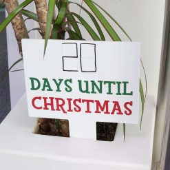 Countdown To Christmas Large Rectangle Sign IN PLANTPOT