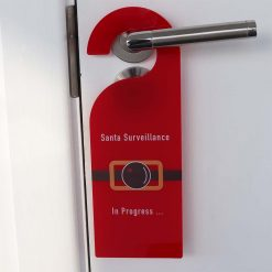 Santa Surveillance In Progress Christmas Door Hanger