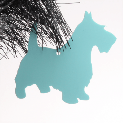 Acrylic Scottie Dog Christmas Tree Decorations