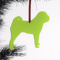 Acrylic Shar Pei Dog Christmas Tree Decorations