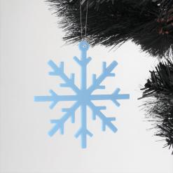 Acrylic Simple Snowflake Christmas Tree Decorations