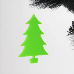 Acrylic Simple Tree Design Christmas Tree Decorations