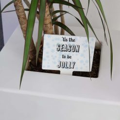 'Tis The Season to be Jolly Mini Rectangle Shaped Christmas Sign