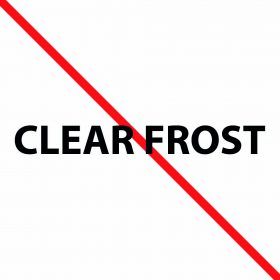 Clear Frost Acrylic Swatch