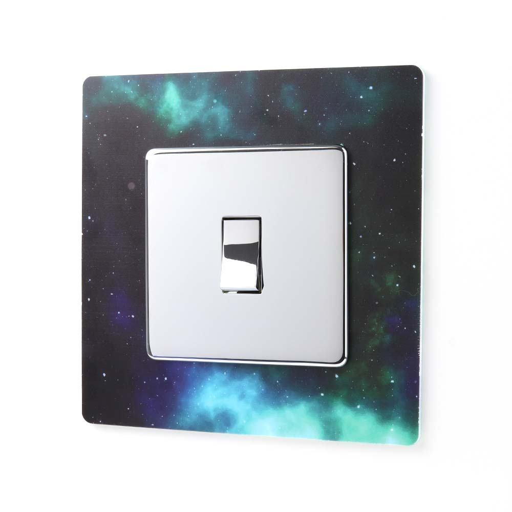 Galaxy Effect Acrylic Single Printed Light Switch Surround