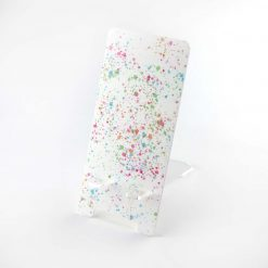 Printed Acrylic Paint Splatter Design Mobile Phone Stand