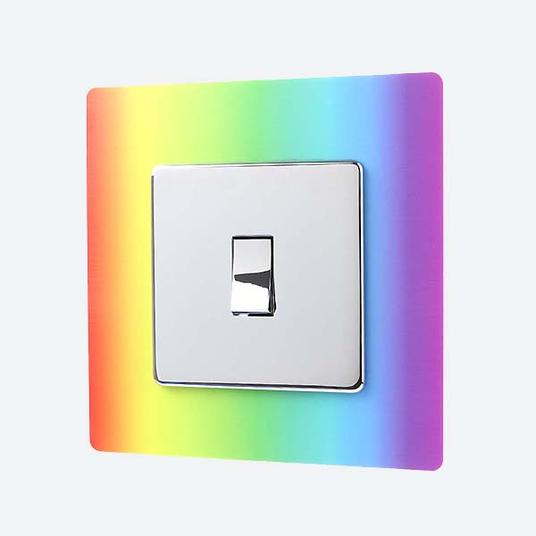 Rainbow Light Switch Surround