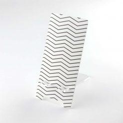 Printed Acrylic Zig Zag Design Mobile Phone Stand