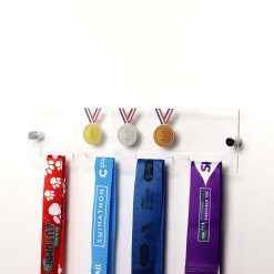Gold, Silver & Bronze Design Acrylic Medal Holder Sports Memorabilia Display With Medals