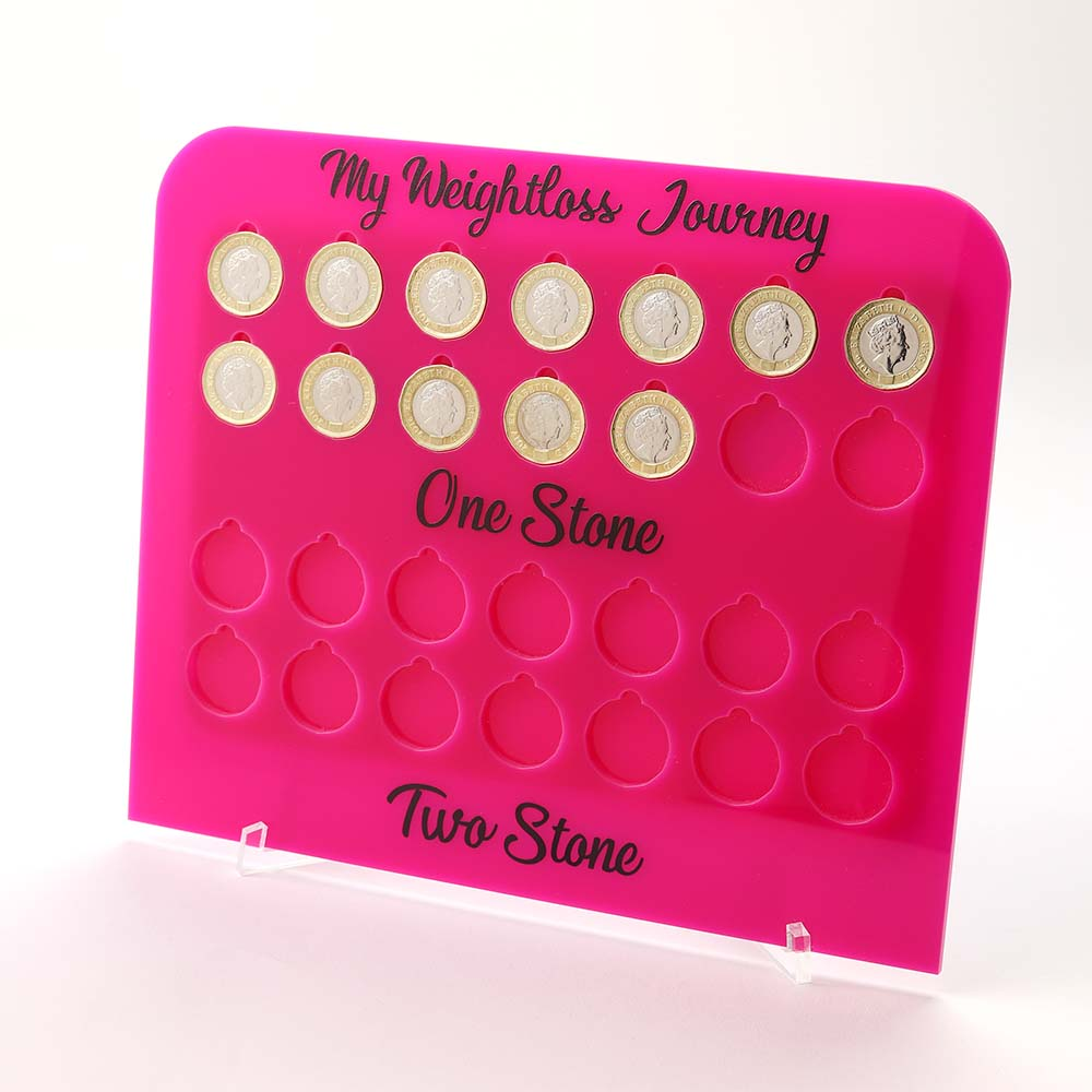2 Stone Pound for lb Weight Loss Journey Board