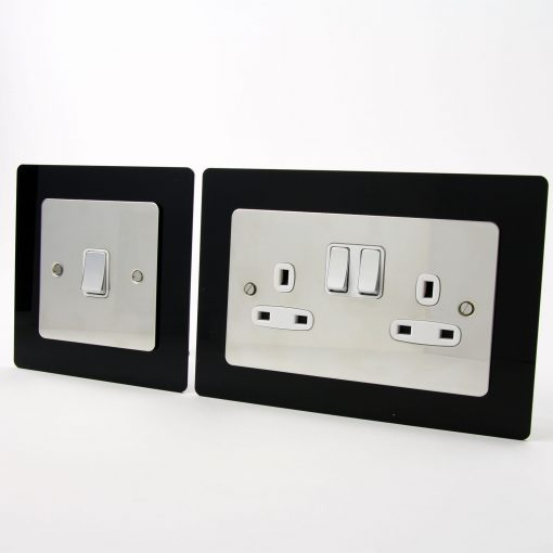 Trade Price 2mm Acrylic Single Double Light Switch Surround